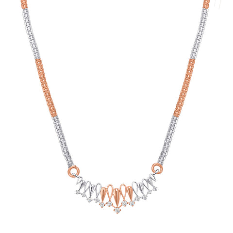 Daytime Diamond Adeline Necklace, in Rose and White Gold