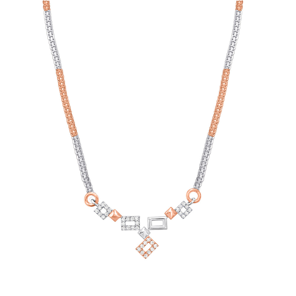 Daytime Diamond Aubrey Necklace, in Rose and White Gold