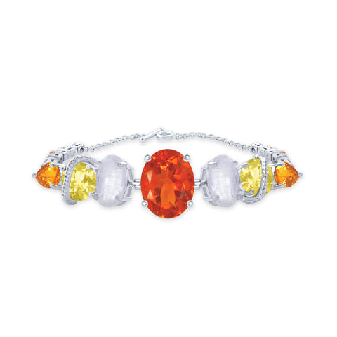 One-of-a-Kind Multi Gemstones Bracelet, Diamonds