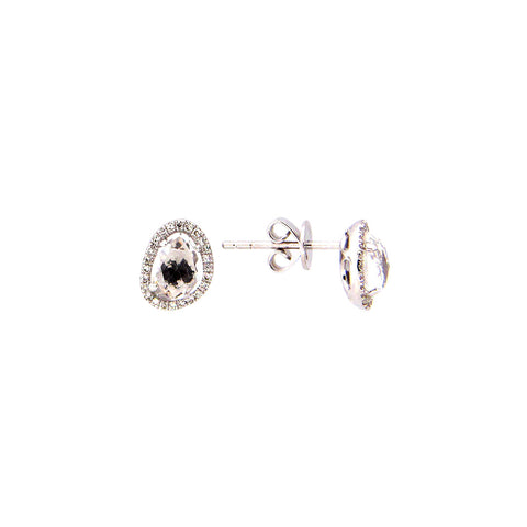 Abigail White Topaz & Diamond Earring