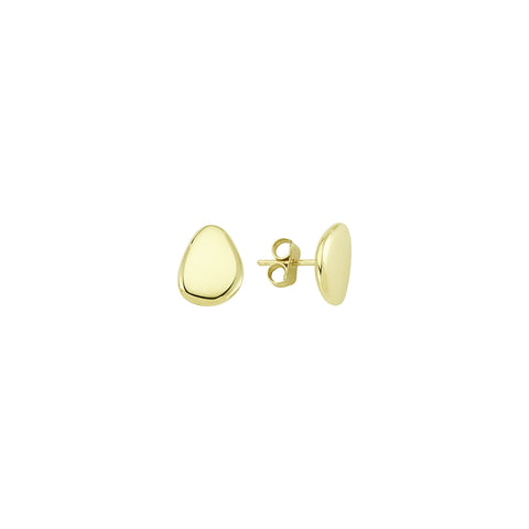 Alexandra Gold Stud Earrings