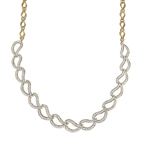 Cocktail Diamond Hadley Necklace, in Yellow Gold