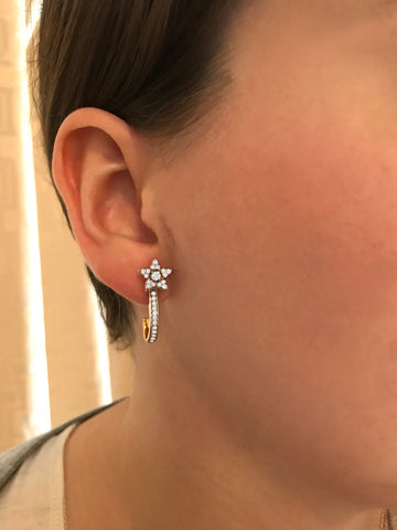 Cocktail Diamond Gia Earrings, in Yellow Gold
