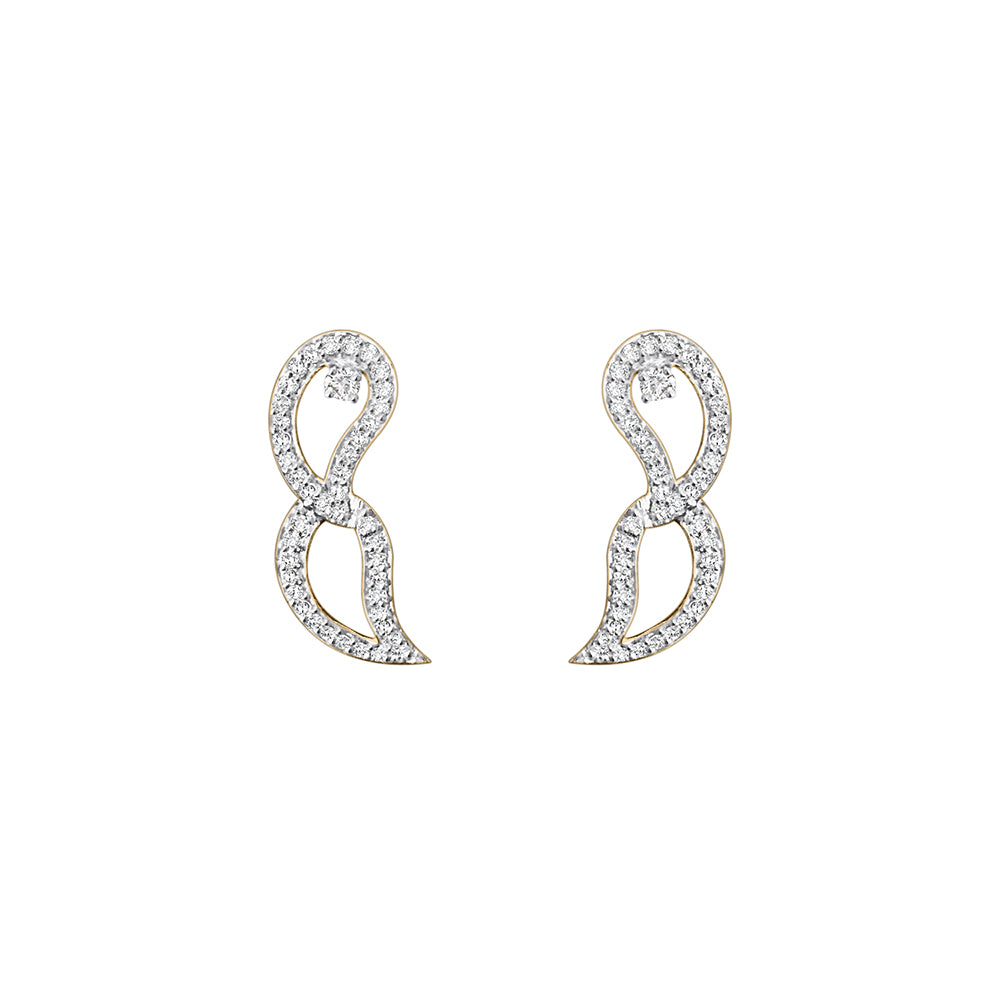Cocktail Diamond Hadley Earrings, in Yellow Gold