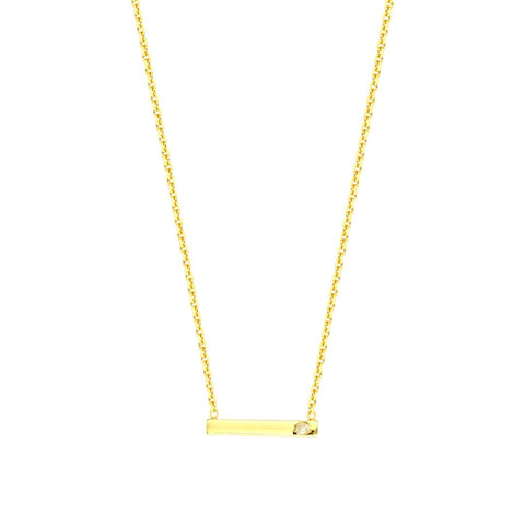 Dayo Diamond Bar Necklace
