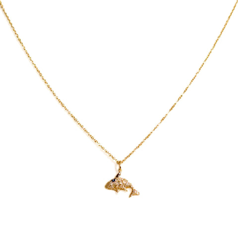 Diamond Dolphin Necklace