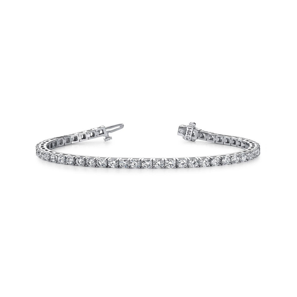 Daytime Diamond 2ctw Four Prong Line Tennis Bracelet, in White Gold