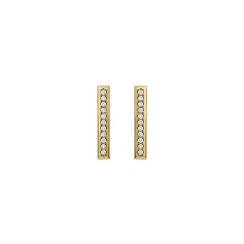 Daytime Diamond Long Rocket Stud Earrings, in Diamond and Gold