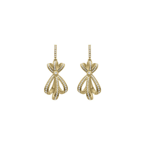 Daytime Diamond Shooting Star Earrings, in Yellow Gold
