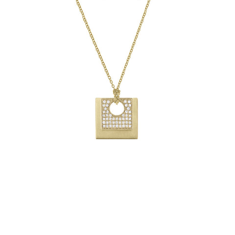 Daytime Diamond Modular Geo Pendant, in Yellow Gold