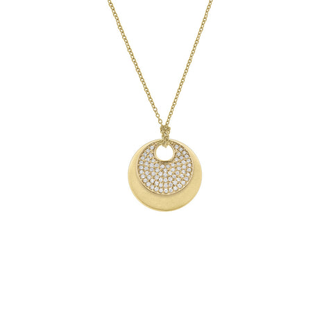 Daytime Diamond Modular Disc Pendant, in Yellow Gold