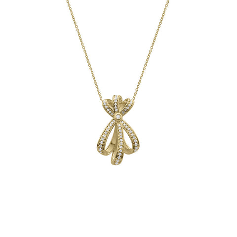 Daytime Diamond Shooting Star Necklace, in Yellow Gold