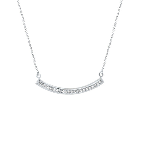 Daytime Diamond Compass Necklace, in Diamond and White Gold