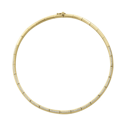 Daytime Diamond Circumference Choker, in Yellow Gold