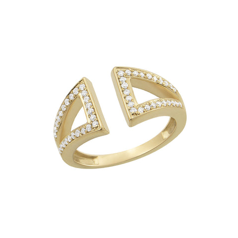 Daytime Diamond Ila Open Ring, in Yellow Gold