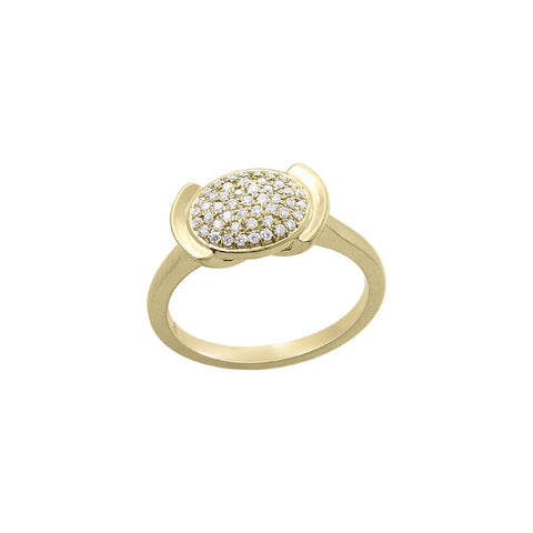 Daytime Diamond Mercury Mini Ring, in Yellow Gold