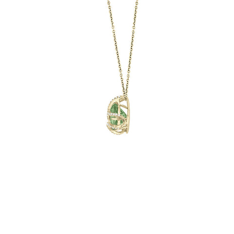 Galaxy Indus Pendant in Prasiolite, Diamonds and Yellow Gold