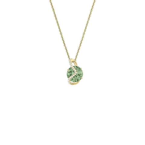 Galaxy Leo Pendant in Prasiolite, Diamonds and Yellow Gold