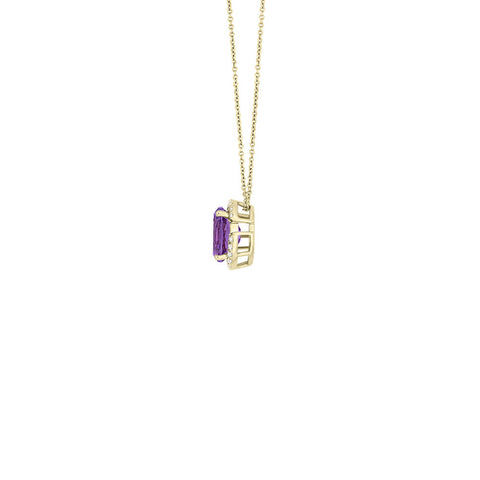 Galaxy Norma Pendant in Purple Amethyst, Diamonds and Yellow Gold