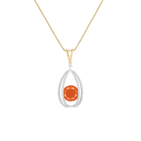 Galaxy Carina Pendant in Carnelian, Diamonds and Sterling Silver