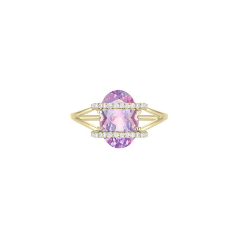 Galaxy Ares Mini Ring in Rose de France, Diamonds