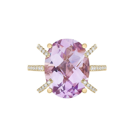 Galaxy Ares Ring in Rose de France, Diamonds