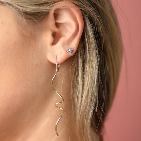Mira Solid Gold Dangle Earrings