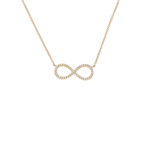 Daytime Diamond Mini Infinity Necklace, in Yellow Gold