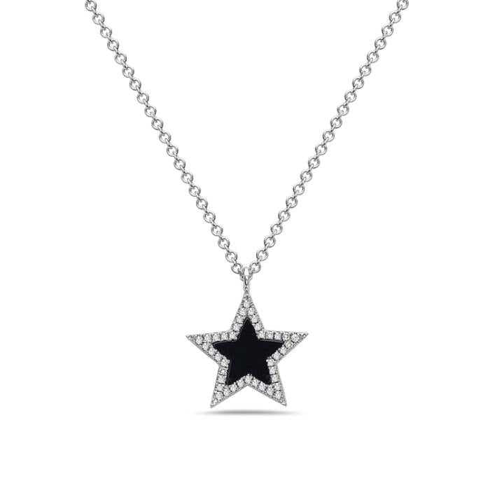 Black Agate Star Necklace