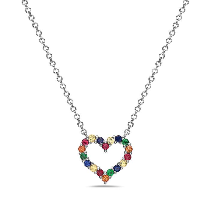 All Heart MultiSapphire Necklace