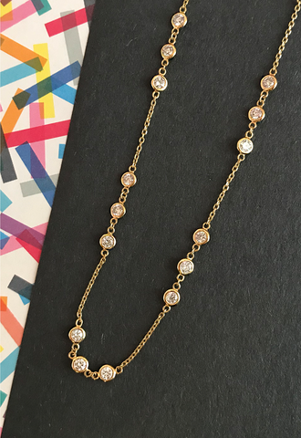 Daytime Diamond Nora Diamonds by the Strand Necklace, in Yellow Gold