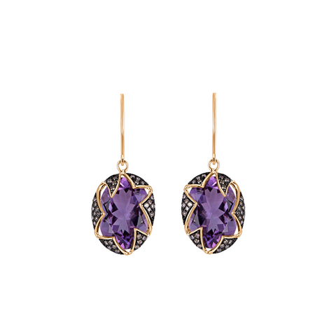 One-of-a-kind Riya Brazilian Purple Amethyst Earrings