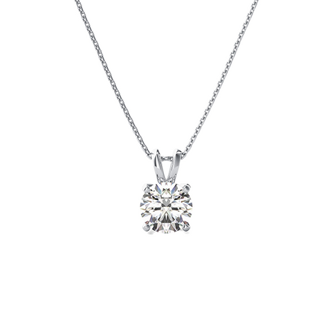 Daytime Diamond Solitaire Pendant, in White Gold