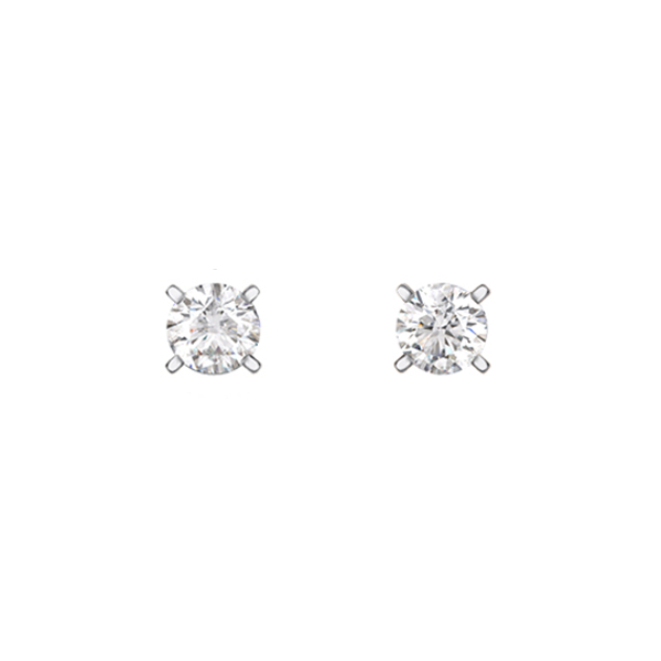 Daytime Diamond Solitaire Stud Earrings (0.50ctw), in White Gold