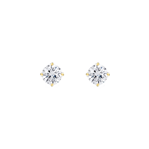Daytime Diamond Solitaire Stud Earrings (0.55ctw), in Yellow Gold