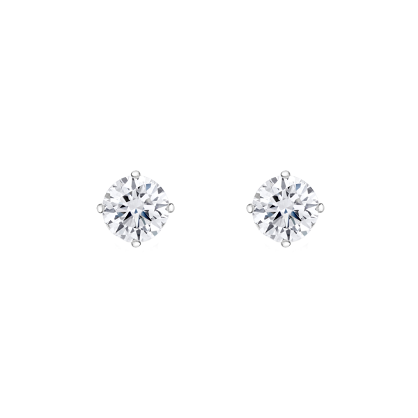 Daytime Diamond Solitaire Stud Earrings(1.06ctw), in White Gold