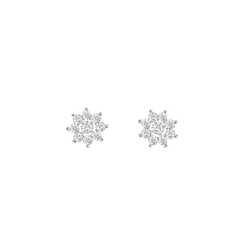 Daytime Diamond Modular Stud Earrings, in White Gold