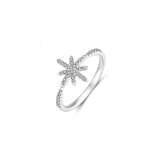 Abie Snow Flake Diamond Ring