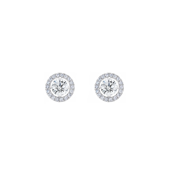 Daytime Diamond 2-in-1 Stud Earrings, White Gold