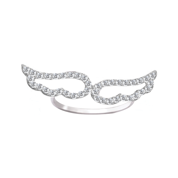 Daytime Diamond Wings Ring, in White Gold