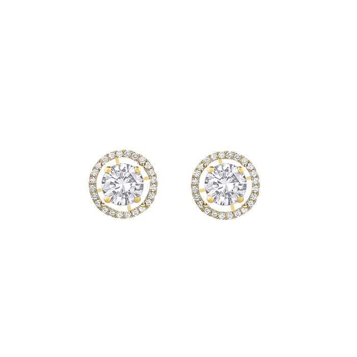 Daytime Diamond 2-in-1 Stud Earrings, in Yellow Gold
