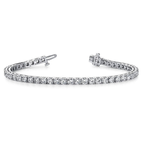 Daytime Diamond 2.50ctw Four Prong Line Tennis Bracelet, in White Gold