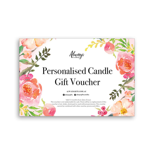 Personalised Candle Gift Card