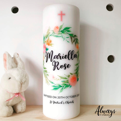 Heavenly Flower - Wreath Candle