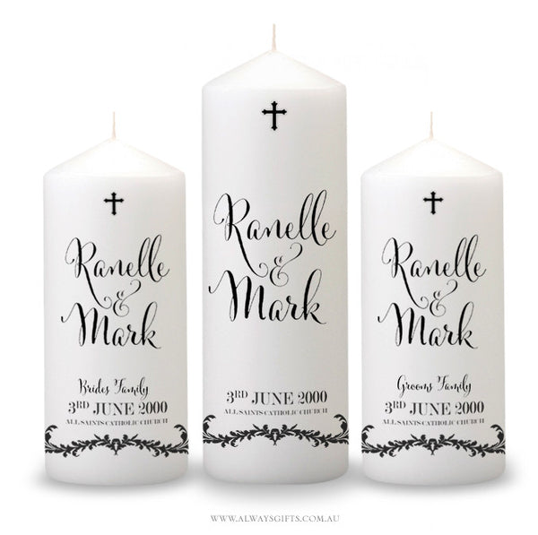 "Wedding Candle ~ ""All the Days of my Life"""