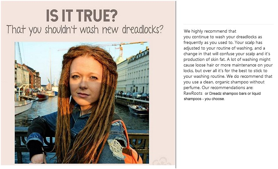 Q? Is it true that you shouldn't wash or shampoo brand new dreadlocks?