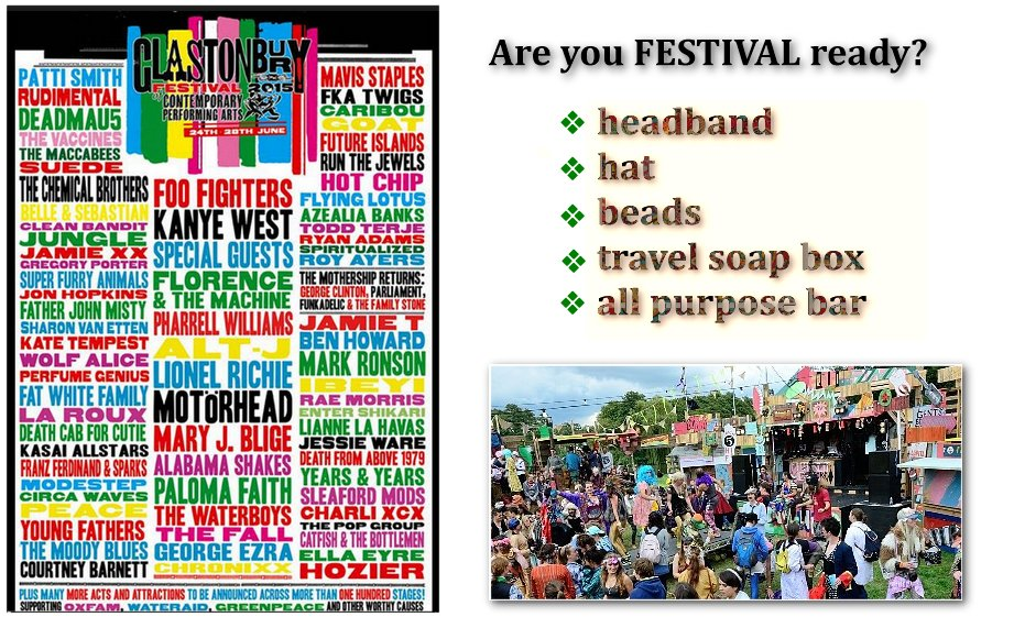 Q? Are you FESTIVAL ready?