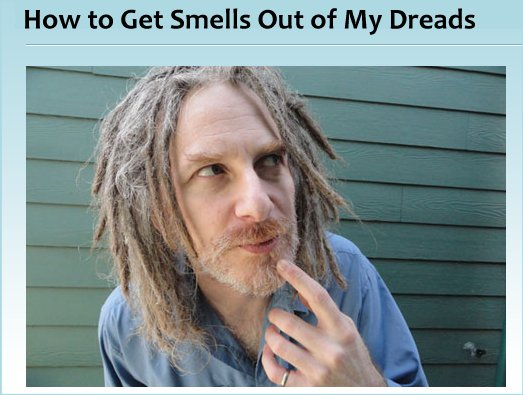 How to Get Smells Out of My Dreadlocks? Deodorise your dreads...