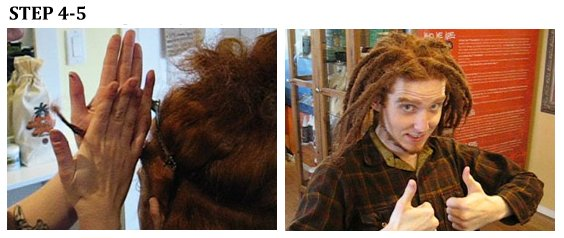 How to make and grow dreadlocks... steps 4 and 5.