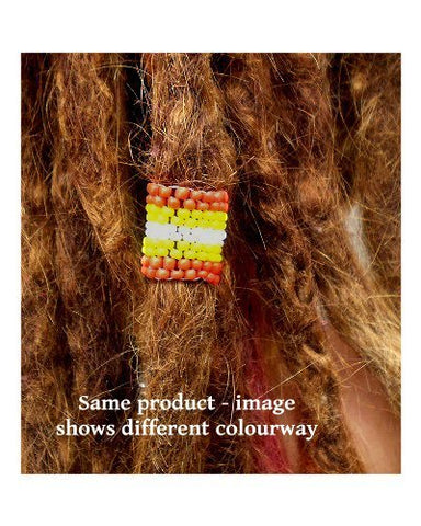 Handmade Peyote Stitch Beaded Dreadlock Sleeve - LARGE (16mm Hole) x 1